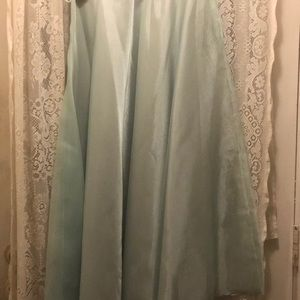 ANN HOBBS(NEW)-LT MINT GREEN CHIFFON SKIRT